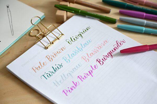Pentel Touch Brush Pen: Farben neu | we love handmade