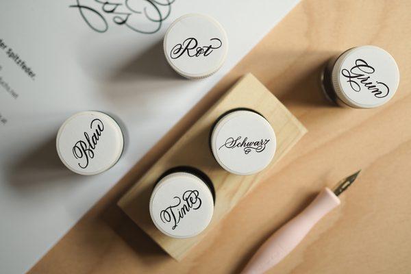 Tintenhalter mit Schreibtinten |we love handmade