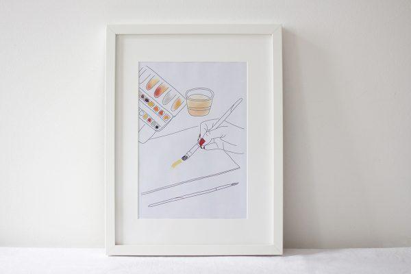 Aquarell Artprint Printable | we love handmade