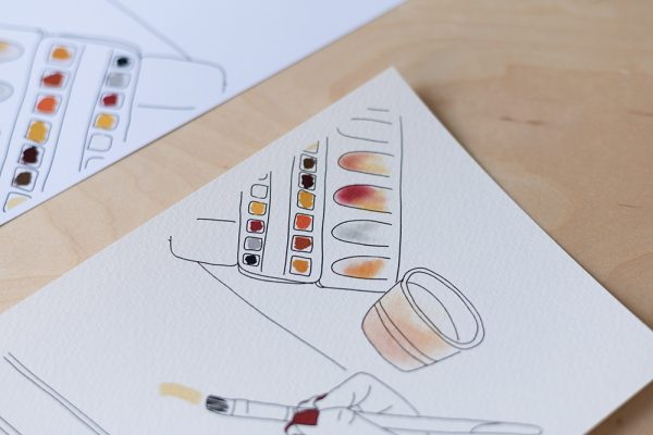 Aquarell-Printable auf Aquarellpapier | we love handmade
