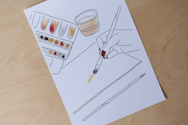 Aquarellmalerei Printable: Download   we love handmade