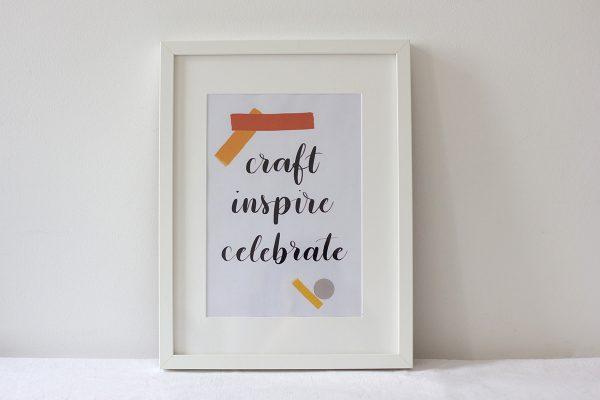 Craft Inspire Celebrate Lettering | we love handmade
