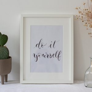 DIY Lettering Artwork: Printable | we love handmade