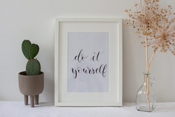 DIY Lettering Artwork: Printable | we love handmade