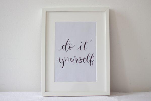 DIY Lettering Artwork | we love handmade