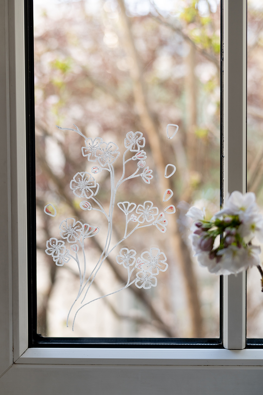 Fenster bemalen: Kirschblüte | we love handmade