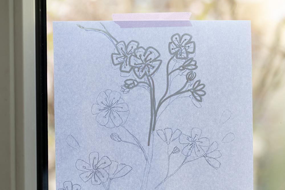 Kirschblüten: Fensterbemalung | we love handmade