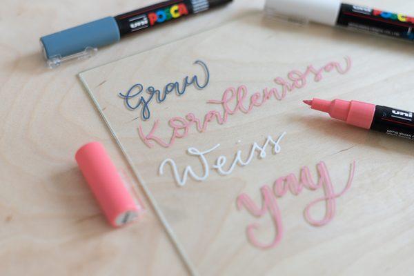 Kreidemarker Uni Posca: Lettering | we love handmade