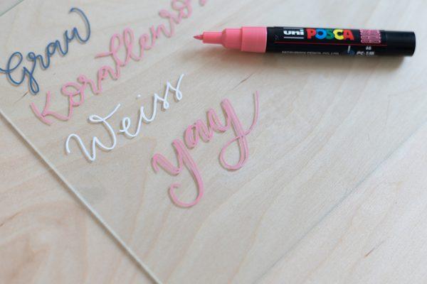 Kreidemarker Uni Posca dünne Spitze | we love handmade