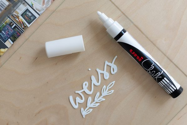 Kreidemarker: Uni weiss | we love handmade