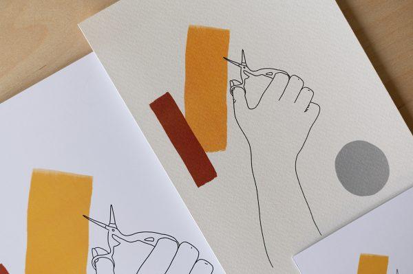 Scheren-Illustration Artwork | we love handmade