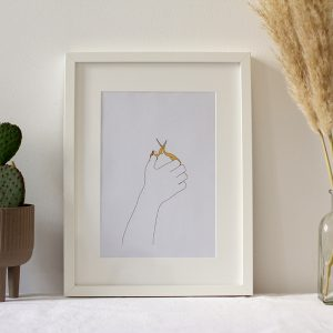 Scheren-Illustration koloriert | we love handmade