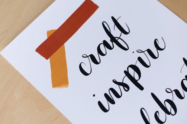 Slogan Printable | we love handmade