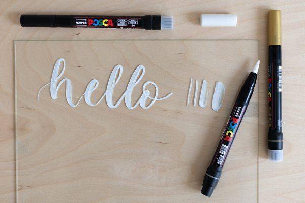 Uni Posca Brush Pen: Lettering | we love handmade