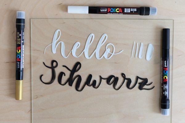 Uni Posca Kreidemarker Brush Pen | we love handmade