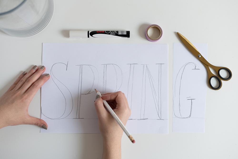 Vase Spring-Lettering - Illustration | we love handmade
