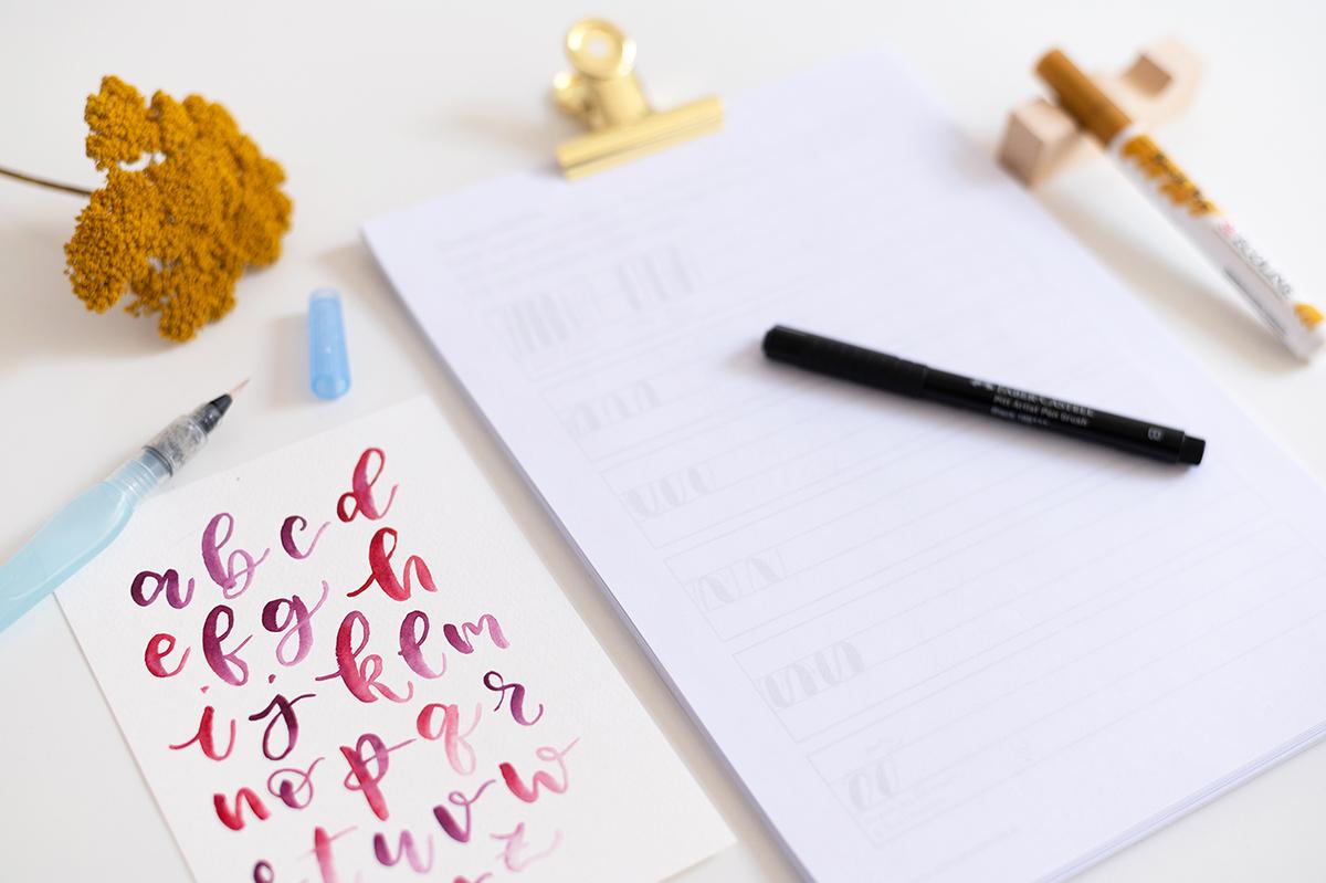 Brush Lettering Intro | we love handmade