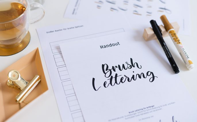 Brush Lettering Onlinekurs | we love handmade