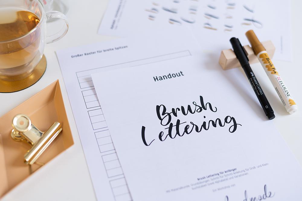 Brush Lettering Onlinekurs | we love handmade