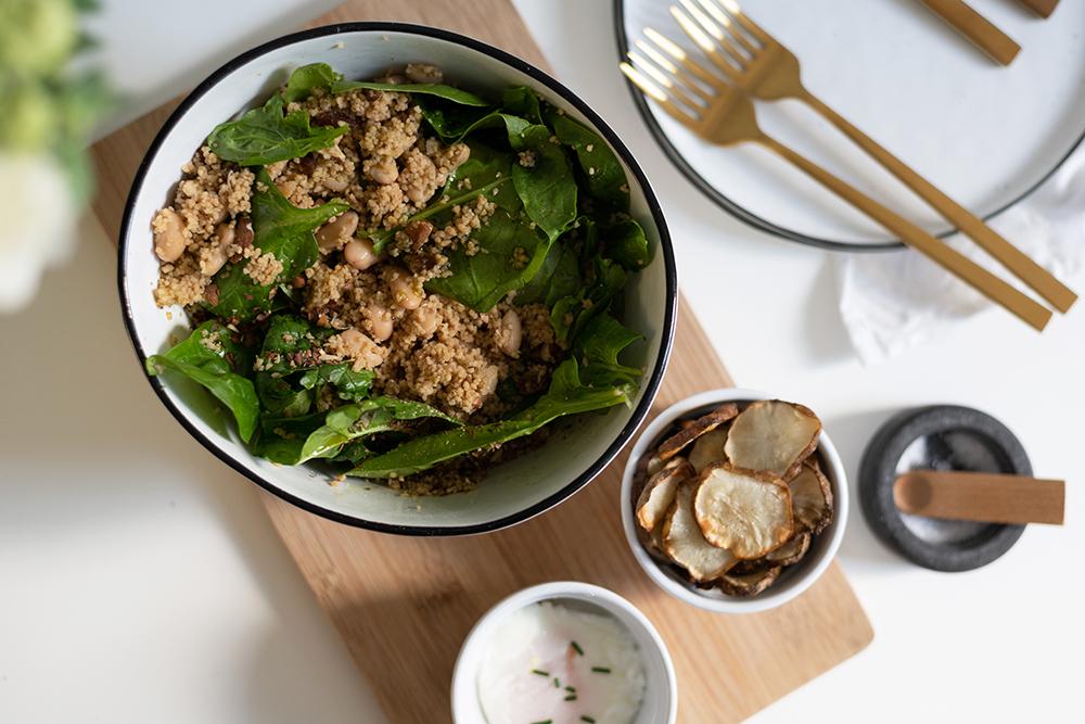 Couscous-Spinat-Salat: Rezept | we love handmade