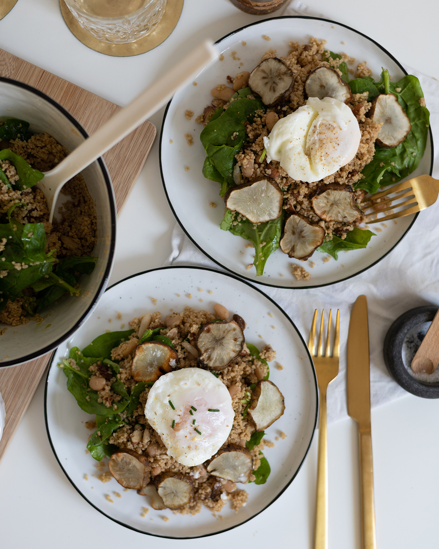 Couscous-Spinat-Salat gesund | we love handmade