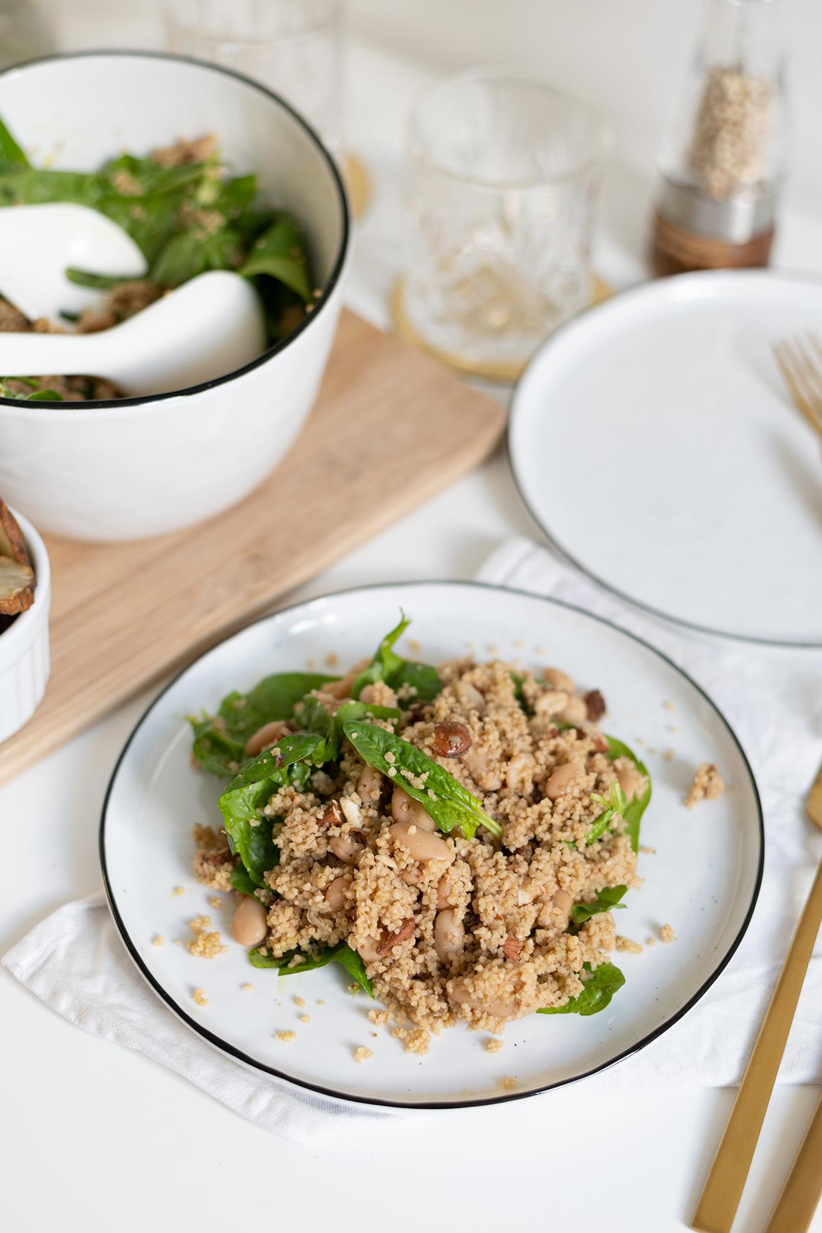 Couscous-Spinat-Salat selber machen | we love handmade