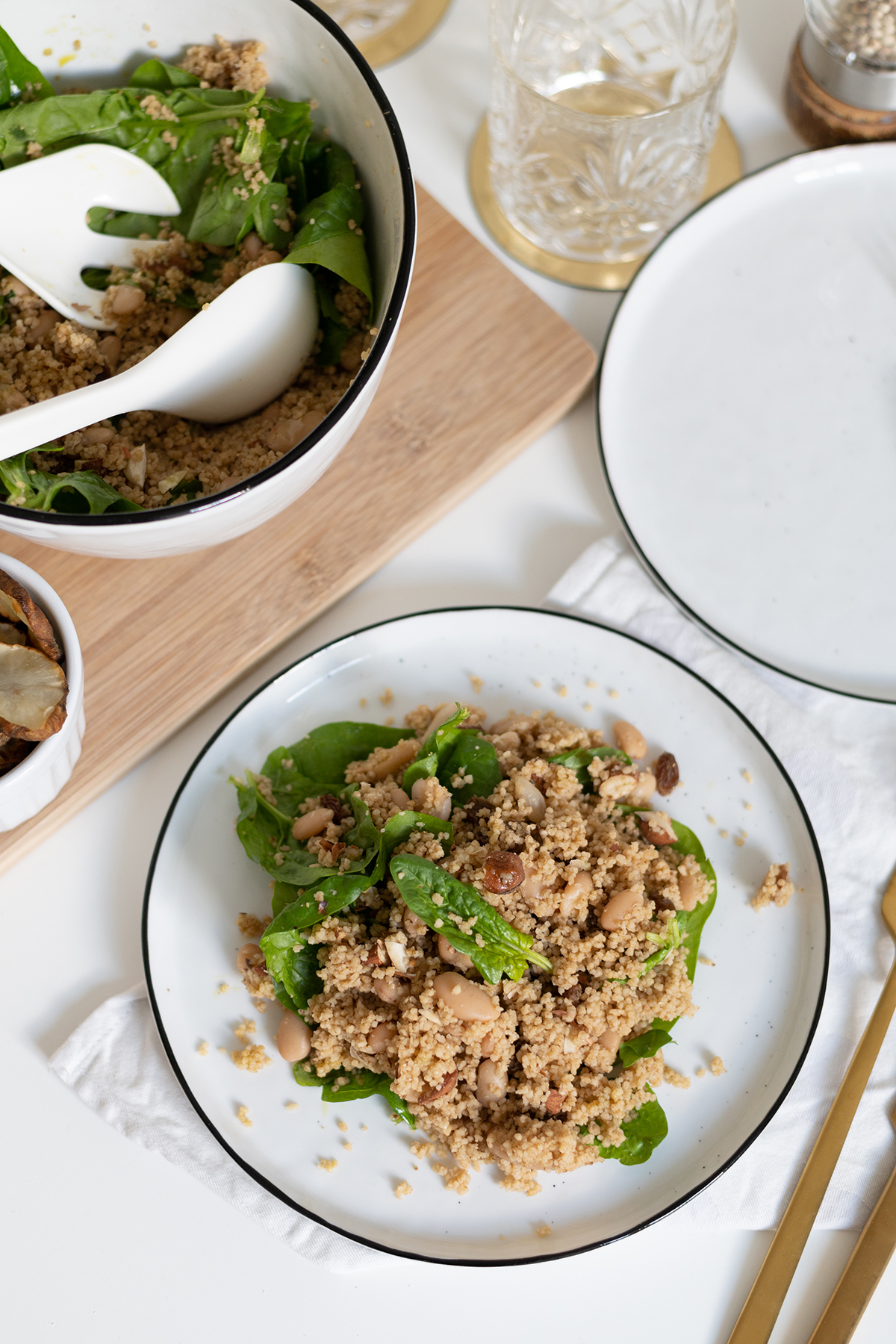 Couscous-Spinat-Salat vegan | we love handmade