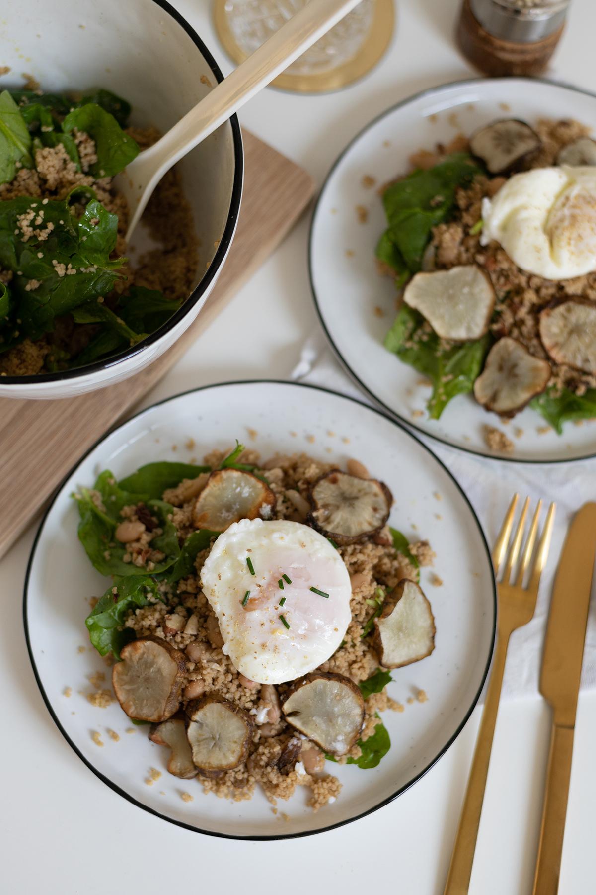 Topinambur-Spinat-Couscous-Salat | we love handmade