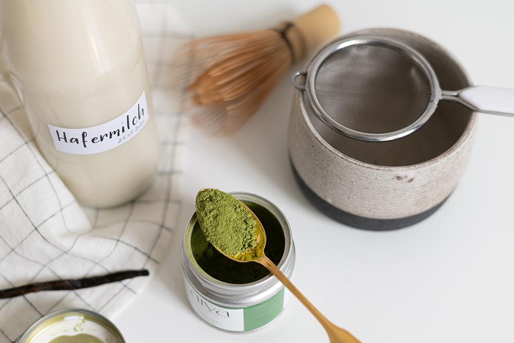 Vanilla Matcha Latte: Zutaten | we love handmade