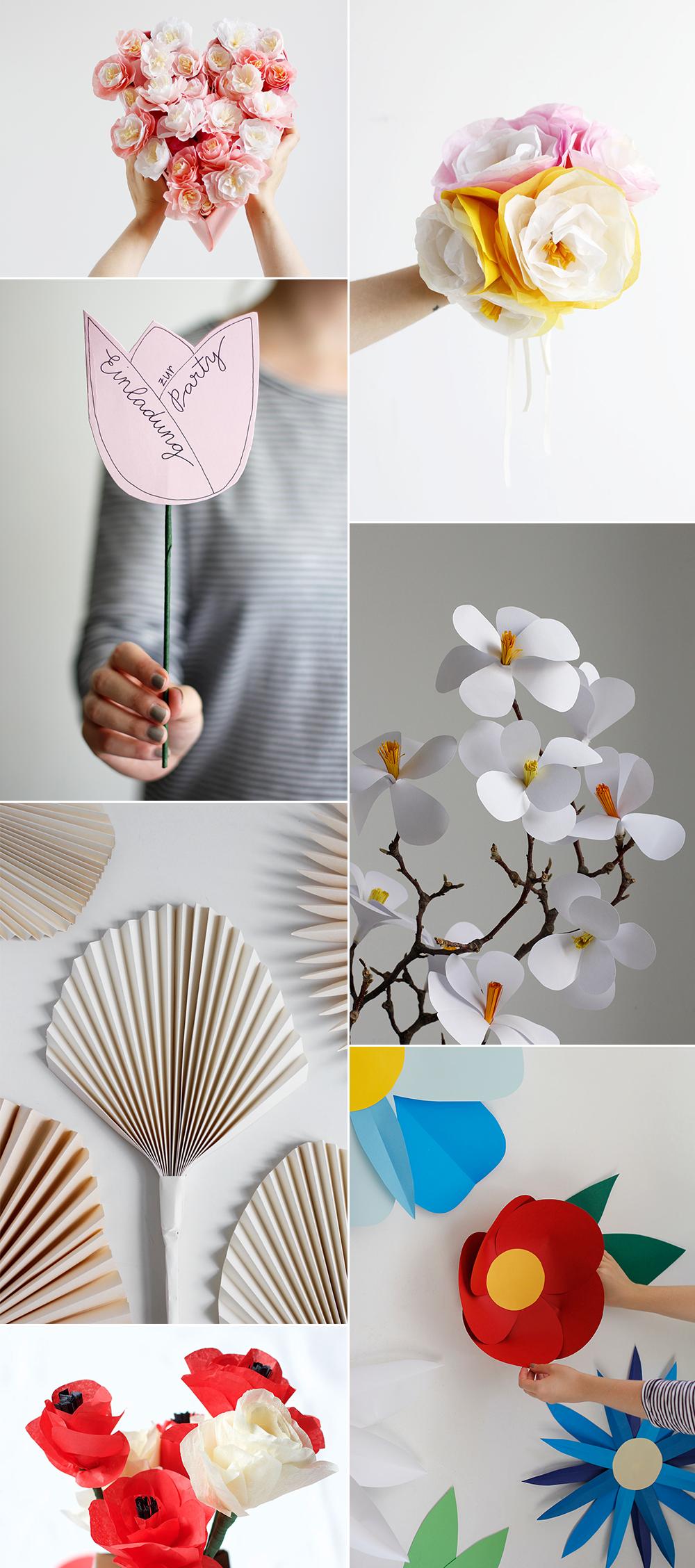 Papierblumen: DIY-Ideen | we love handmade