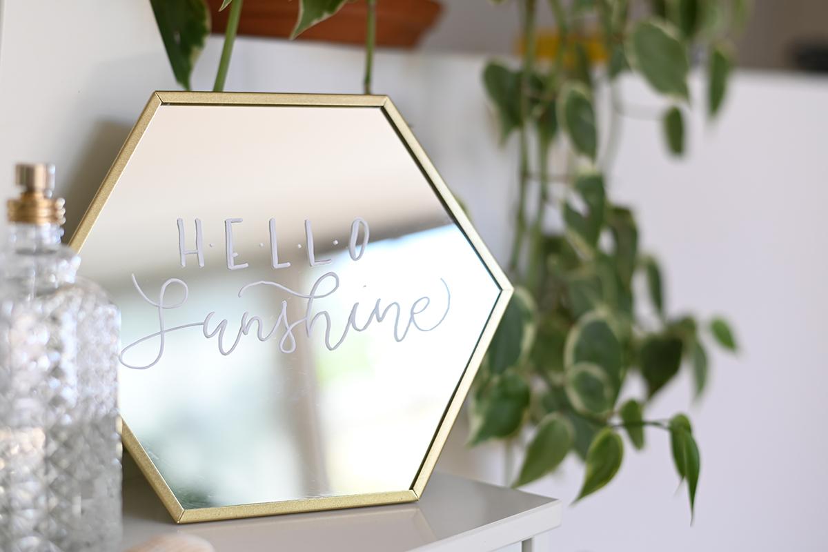 Spiegel beschriften: DIY | we love handmade