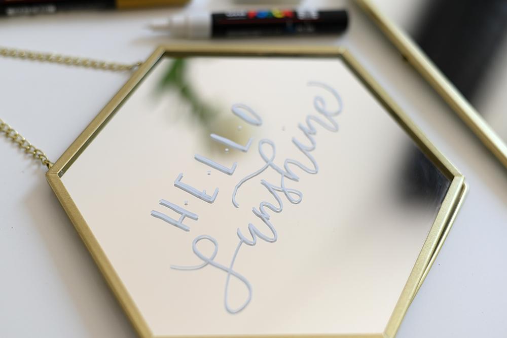 Spiegel beschriften | we love handmade