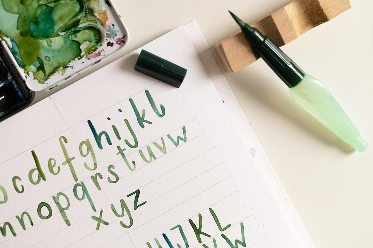Watercolor Lettering: Alphabet  we love handmade