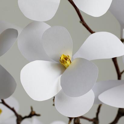 DIY: Magnolien aus Papier selbermachen   we love handmade