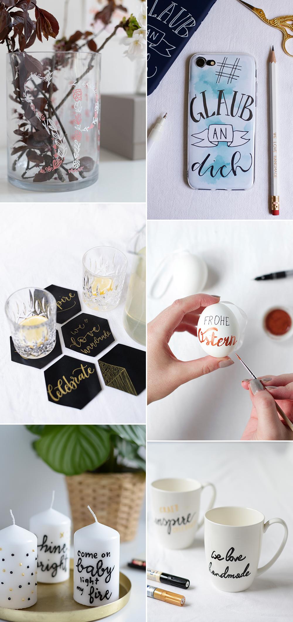 we love Inspiration: Unsere liebsten Lettering-DIYs | we love handmade