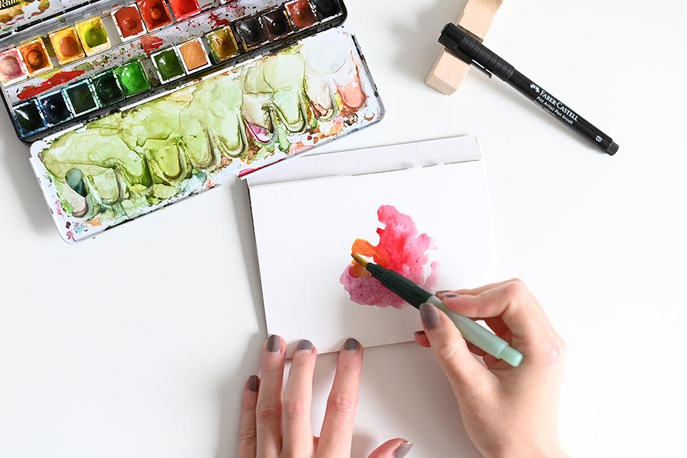 Aquarellhintergrund DIY | we love handmade