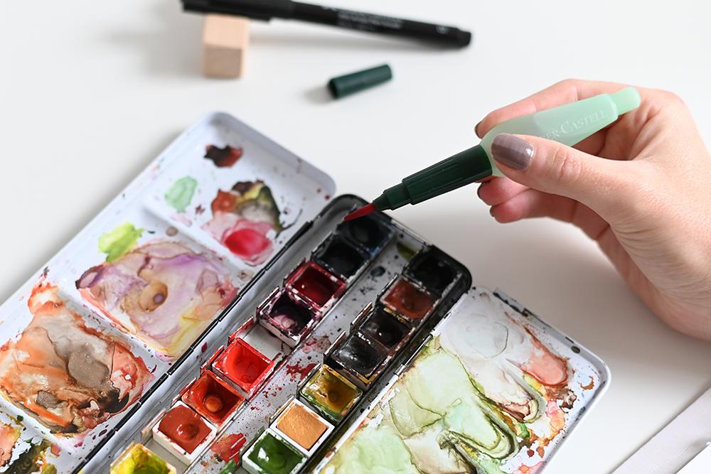 Aquarellhintergrund für Karten-DIY | we love handmade