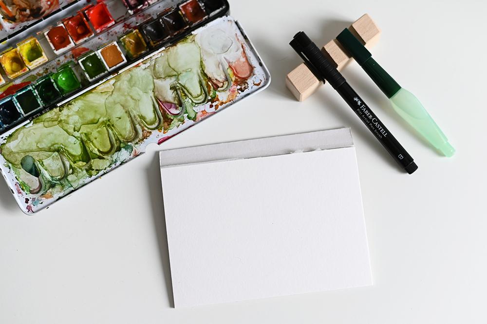 Aquarellmalerei - Farbklecks: Material | we love handmade