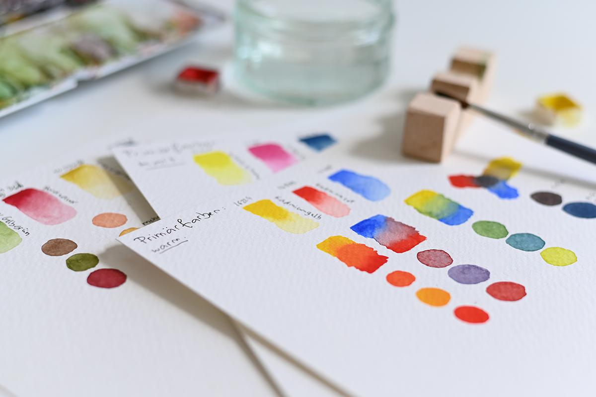 Farben mischen: Aquarell-Onlinekurs | we love handmade