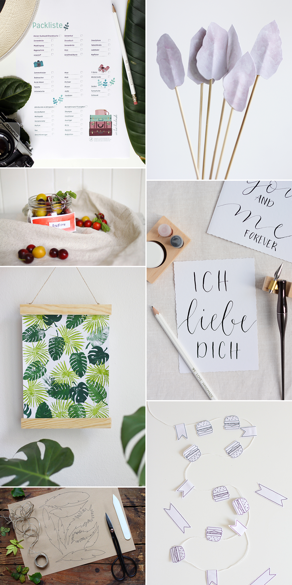 we love Inspiration: Unsere liebsten Freebies für den Sommer | we love handmade