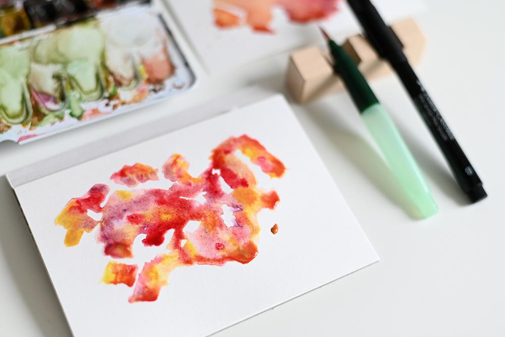 Wasserfarbenhintergrund selbermachen | we love handmade