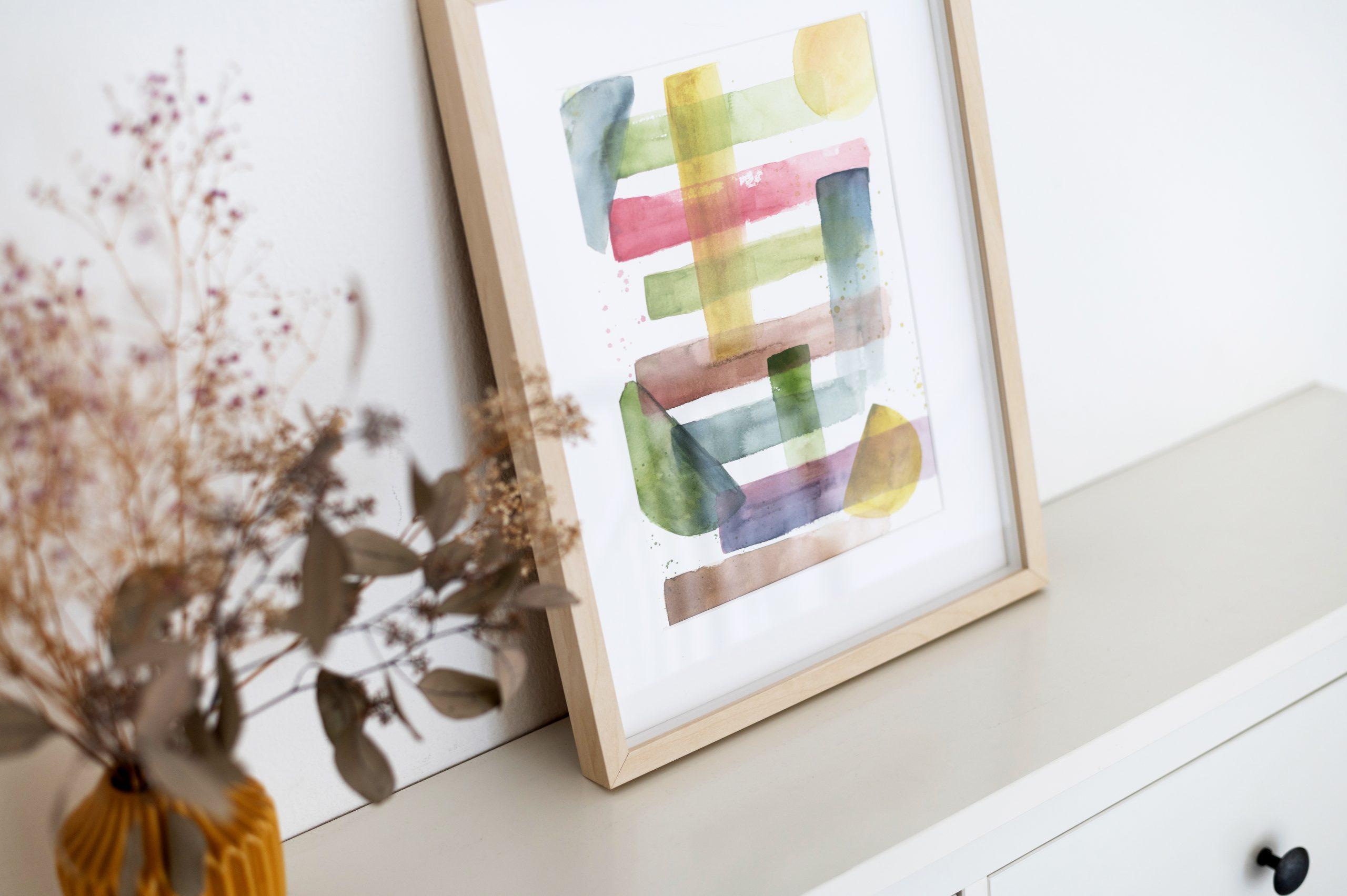 Abstrakte Kunst selber machen | we love handmade