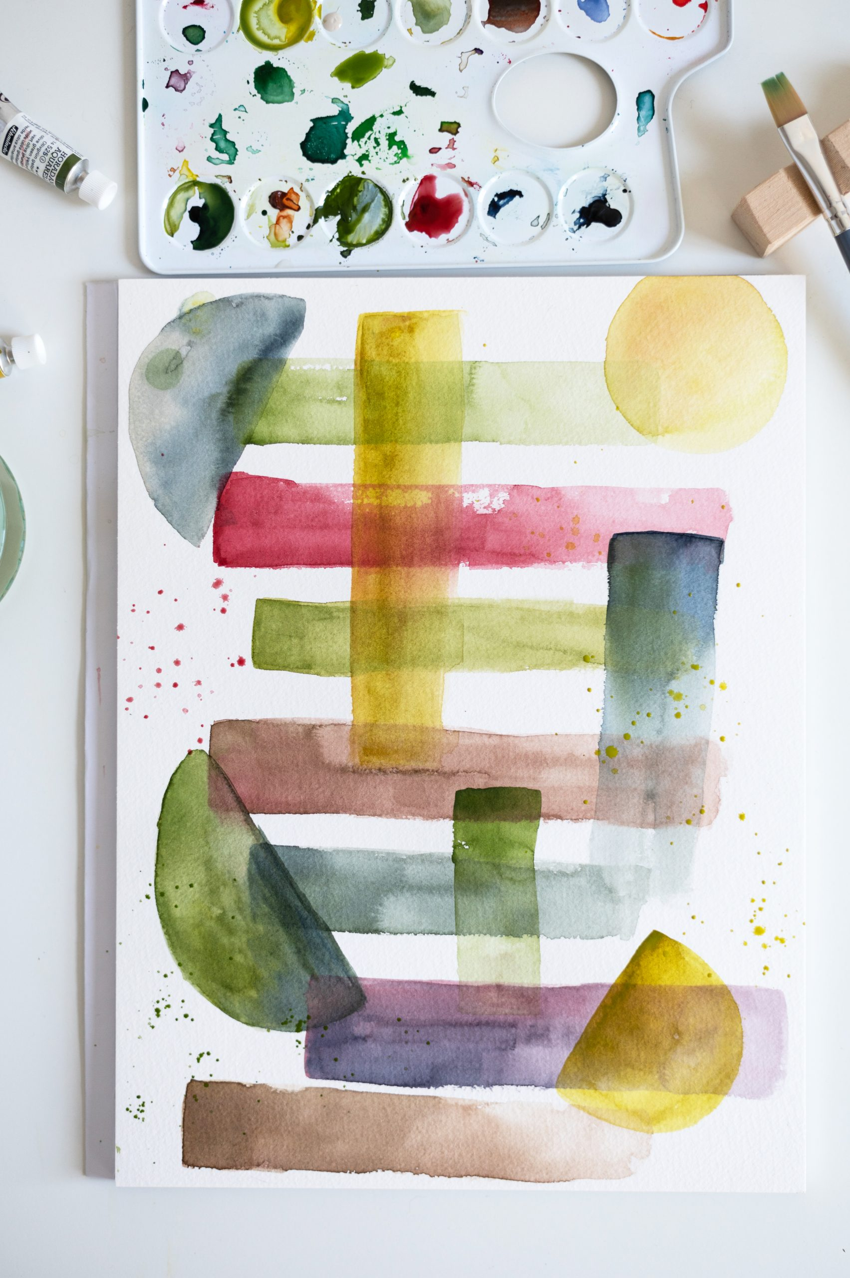 Abstraktes Aquarell | we love handmade