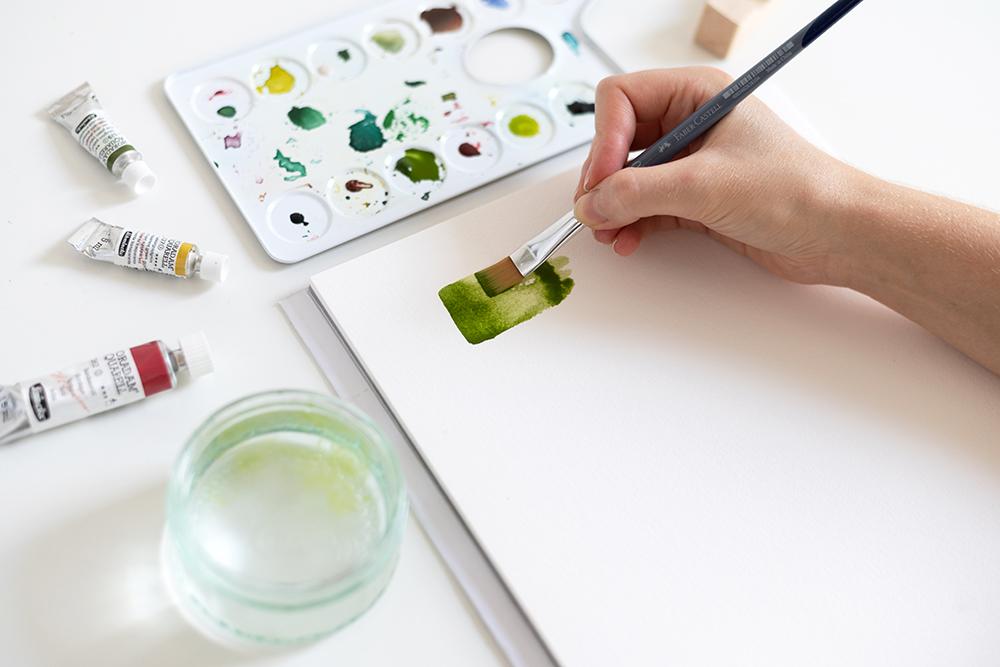 Abstraktes Aquarellbild: DIY | we love handmade