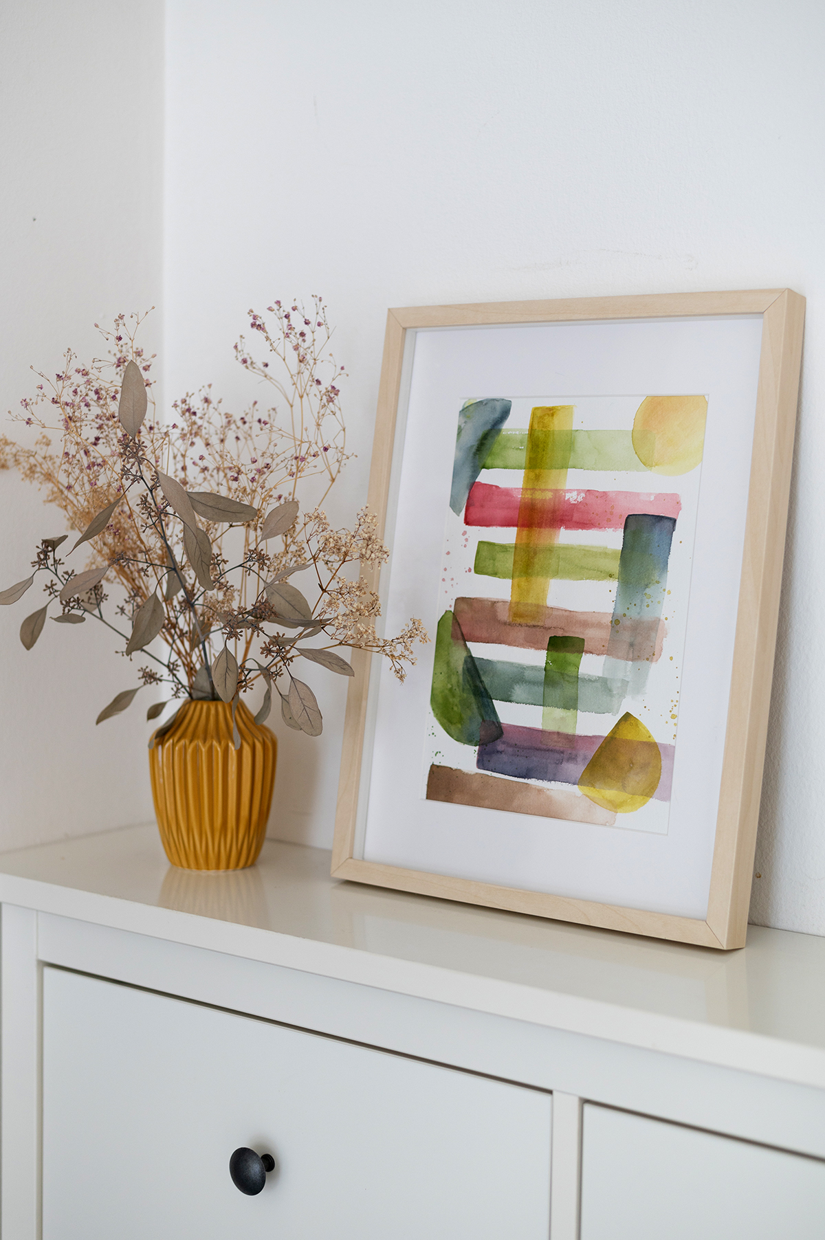 Abstraktes Aquarellbild Kunst-DIY | we love handmade