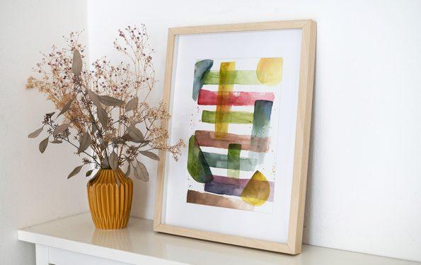 Abstraktes Aquarellbild selber machen | we love handmade