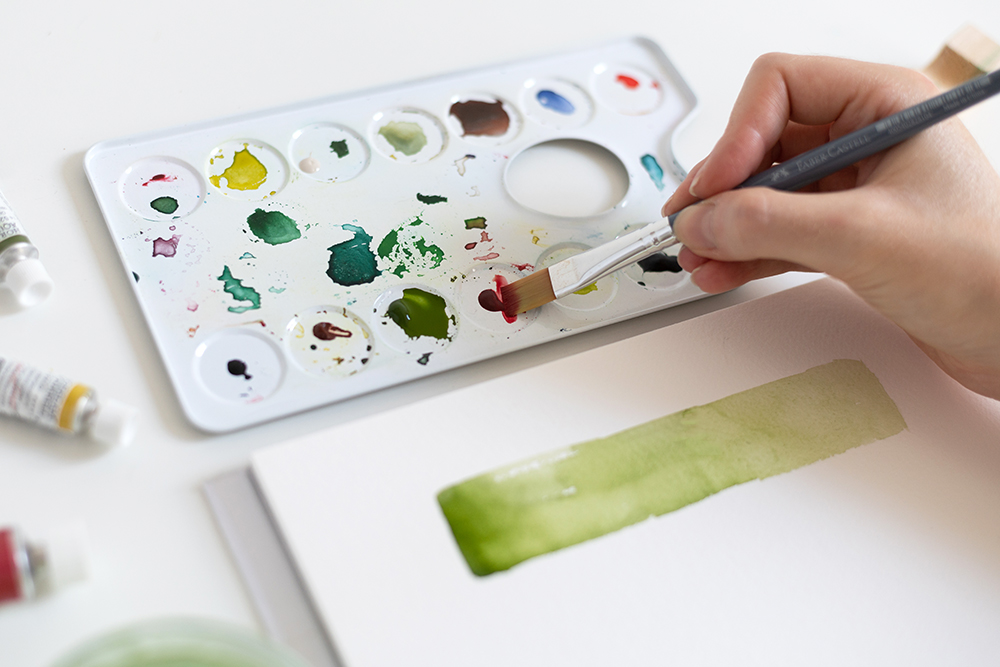 Aquarellverläufe: Abstrakte Kunst | we love handmade