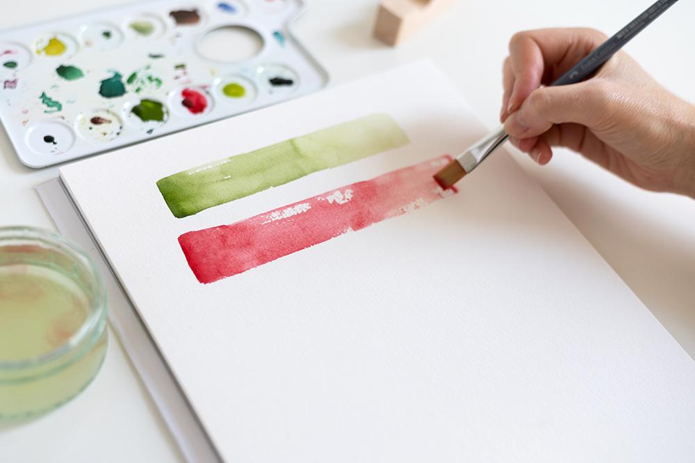 DIY: Abstraktes Aquarellbild | we love handmade