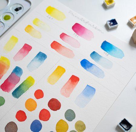 Neu: Onlinekurs zum Thema Farben mischen in der Aquarellmalerei