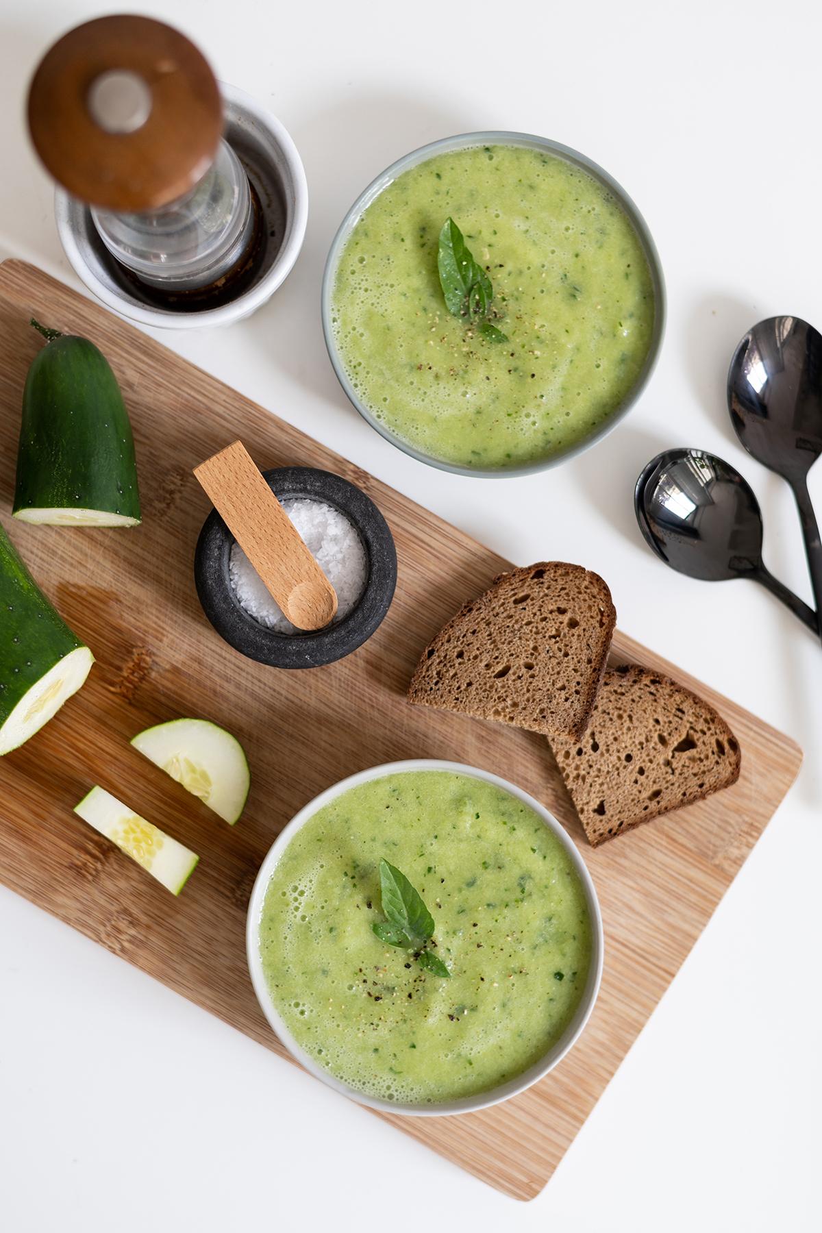 Kalte Gurkensuppe: Rezept vegan | we love handmade